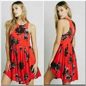 Free People   2   Red Floral Dress